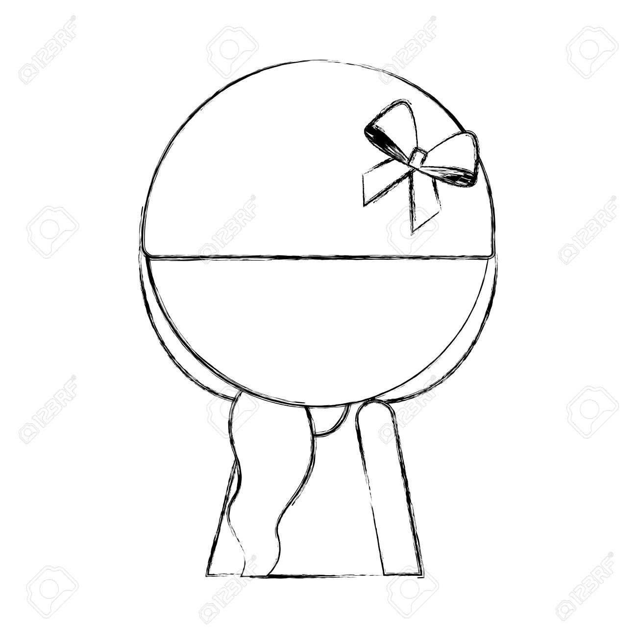 sketch draw faceless cute upper body little girl vector illustration