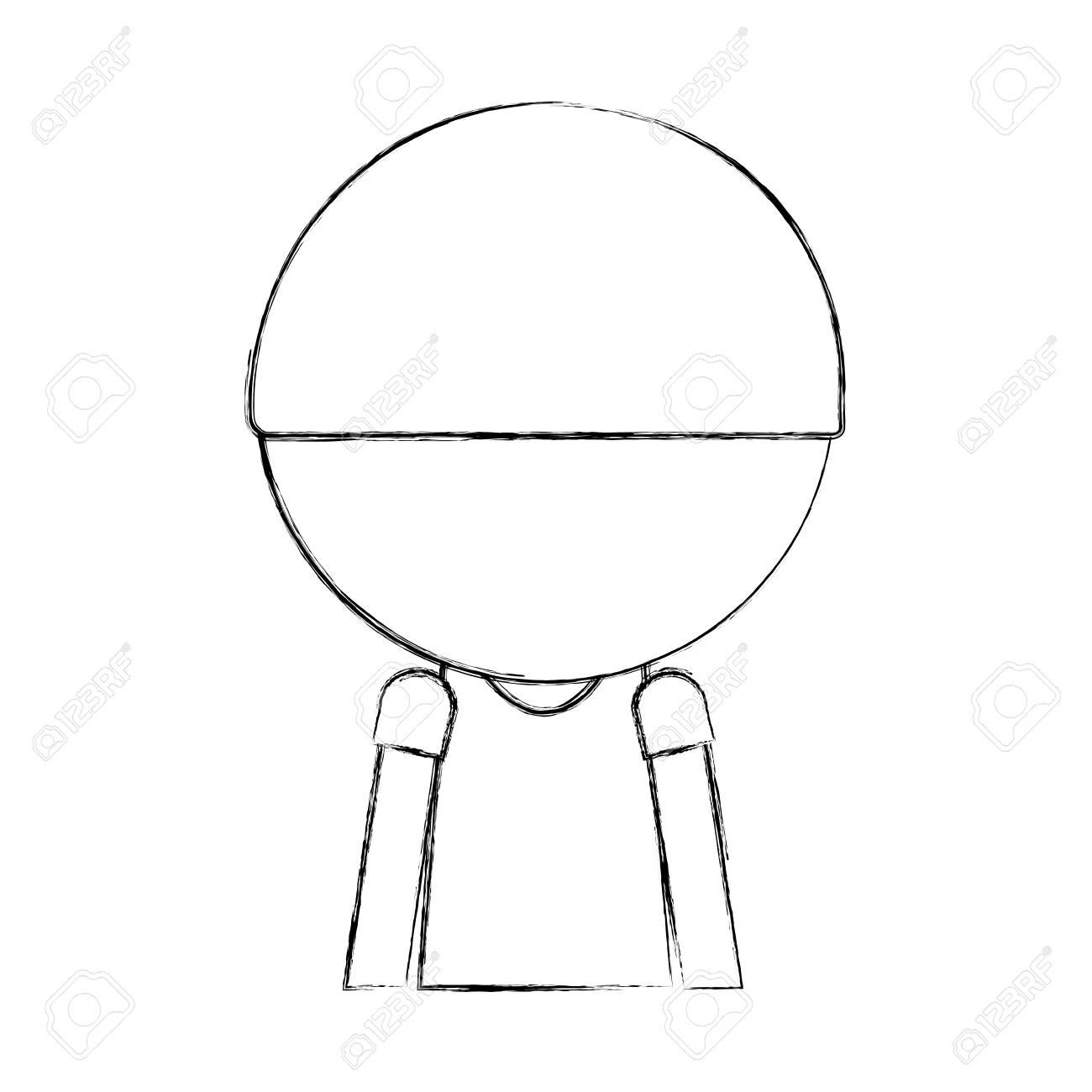 Sketch Draw Faceless Cute Upper Body Little Boy Vector Illustration