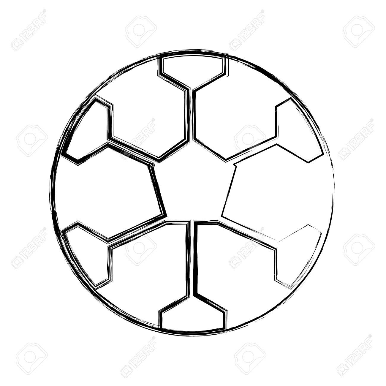 sketch draw soccer ball cartoon vector graphic design