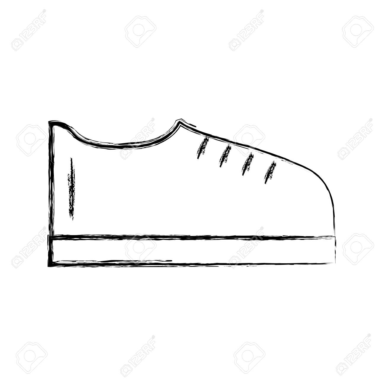 Sketch Draw Shoe Cartoon Vector Graphic Design Royalty Free Cliparts Vectors And Stock Illustration Image 79942856