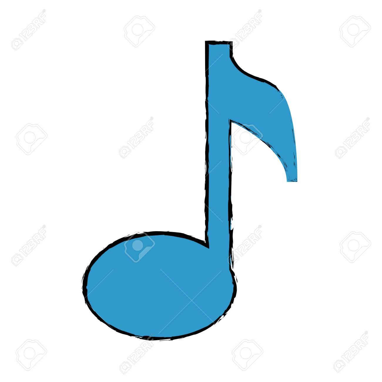 Vettoriale Icona Nota Musicale Su Sfondo Bianco Illustrazione