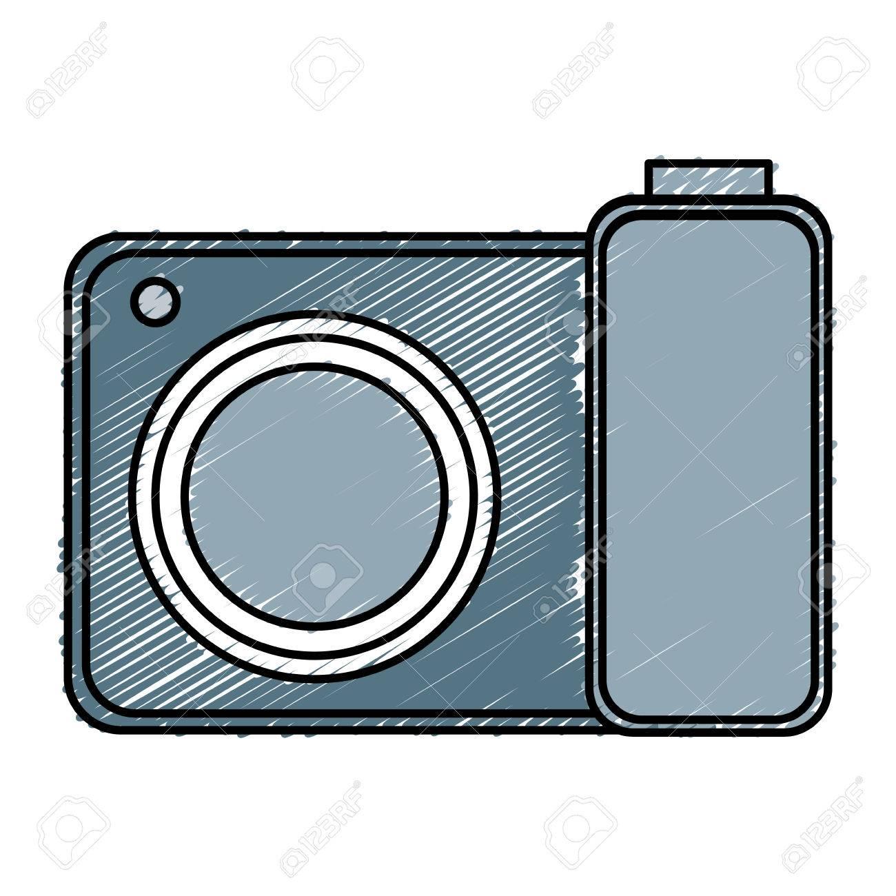 カメラ写真分離アイコン ベクトル イラスト デザイン ロイヤリティフリー