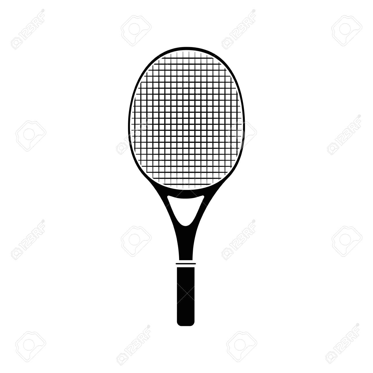 Tennis Racket Isolated Icon Vector Illustration Graphic Design
