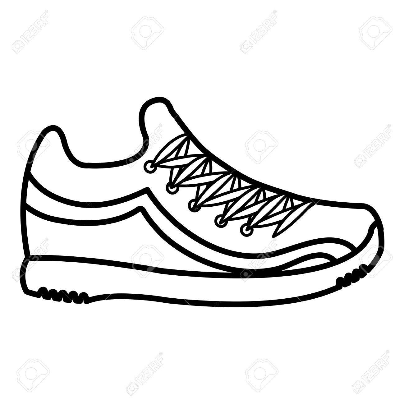 Vectorial Zapato De Tenis Ilustración Diseño Aislado Icono lFKJ1uT3c