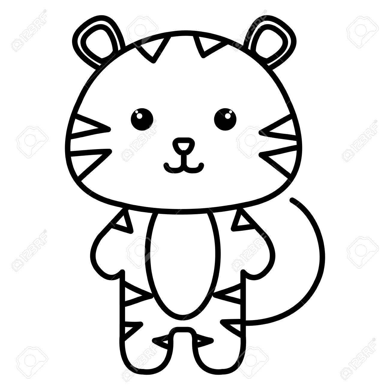 Stuffed Animal Tiger Icon Vector Illustration Design Image Royalty Free Cliparts Vectors And Stock Illustration Image 80859590