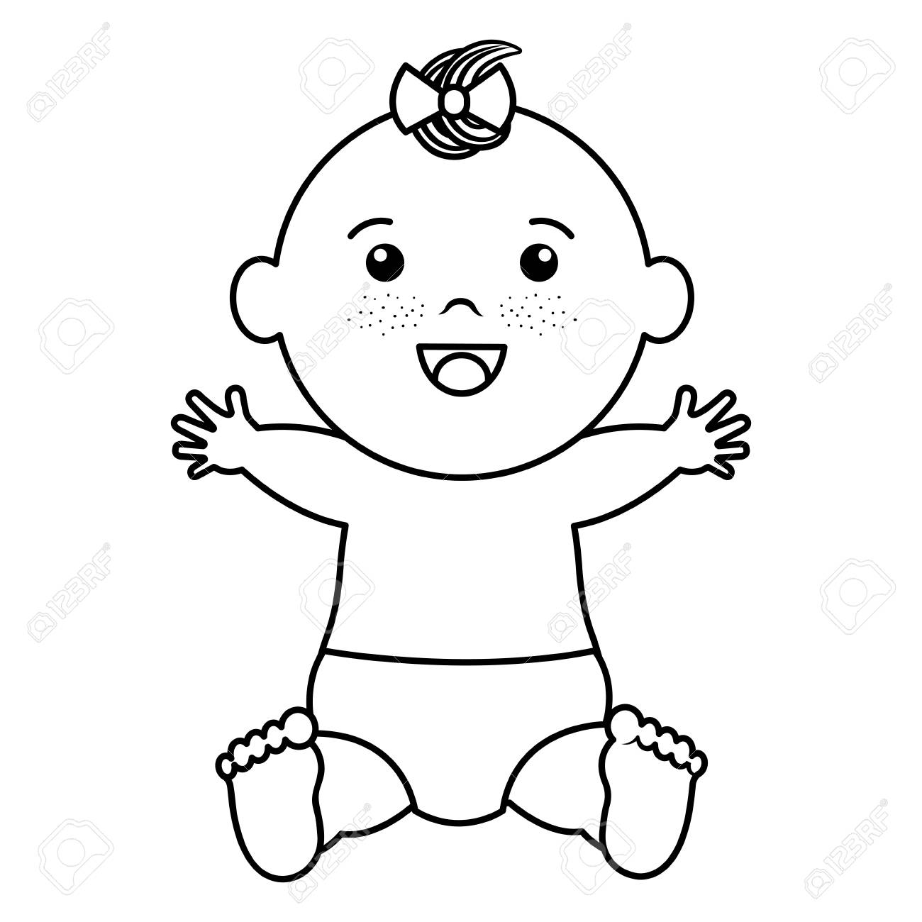 赤ちゃん服ハッピー アイコン ベクトル イラスト デザインを描くの