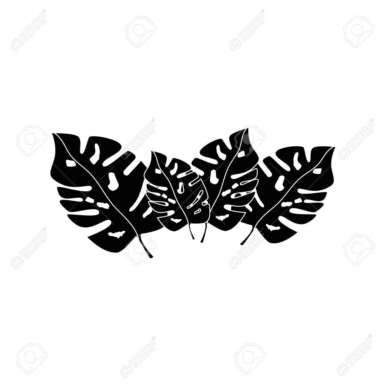 Tropical Leaves Icon Over White Background Vector Illustration Royalty Free Cliparts Vectors And Stock Illustration Image 80871342 Tropical leaves branches watercolor 538627 22 png | 81 mb rar jungle. tropical leaves icon over white background vector illustration
