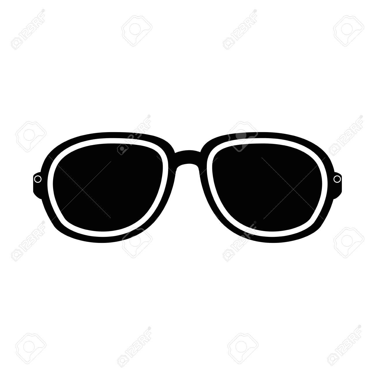 Sole Occhiali Sfondo Bianco Da Su Vettoriale Illustrazione Icona
