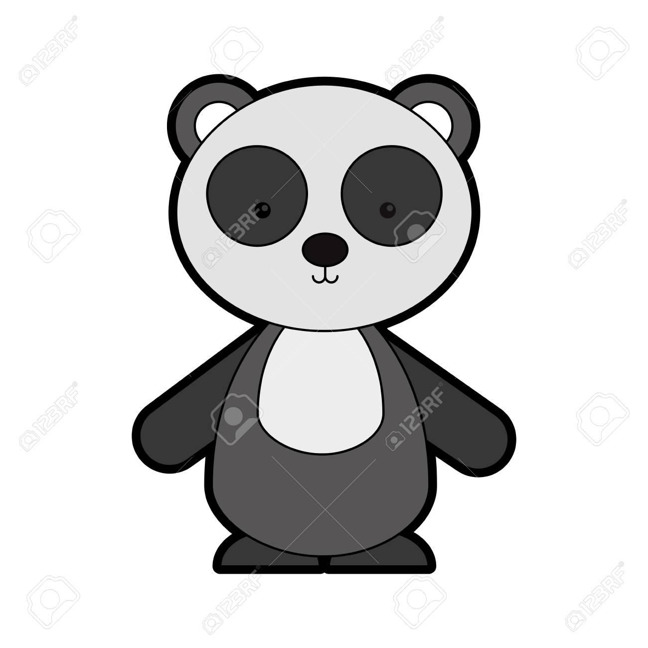 Animaux Panda Dessin Animé Icône Vector Illustration Design Graphique