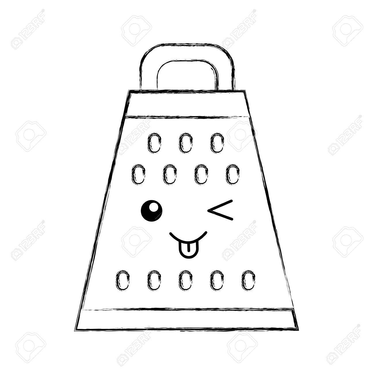 Kitchen Grater Character Vector Illustration Design Stock Vector   81086194