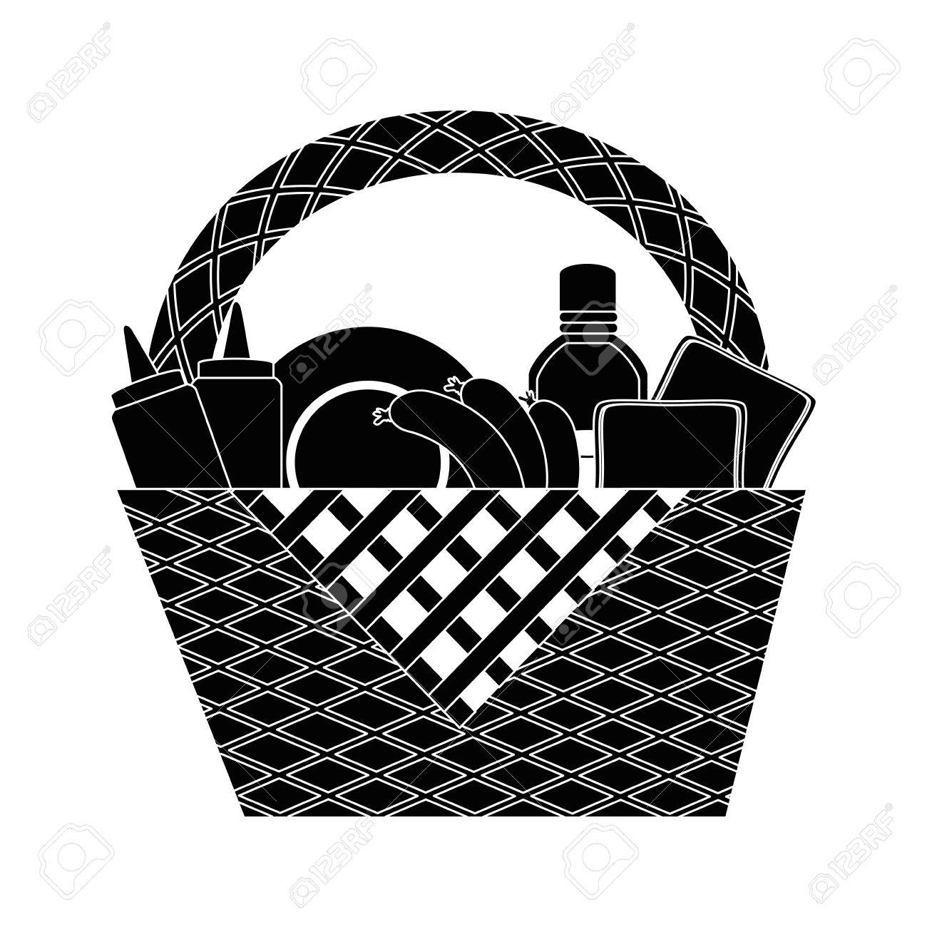 Picnic Basket Cartoon Icon Vector Illustration Graphic Design Royalty Free Cliparts Vectors And Stock Illustration Image 81622950