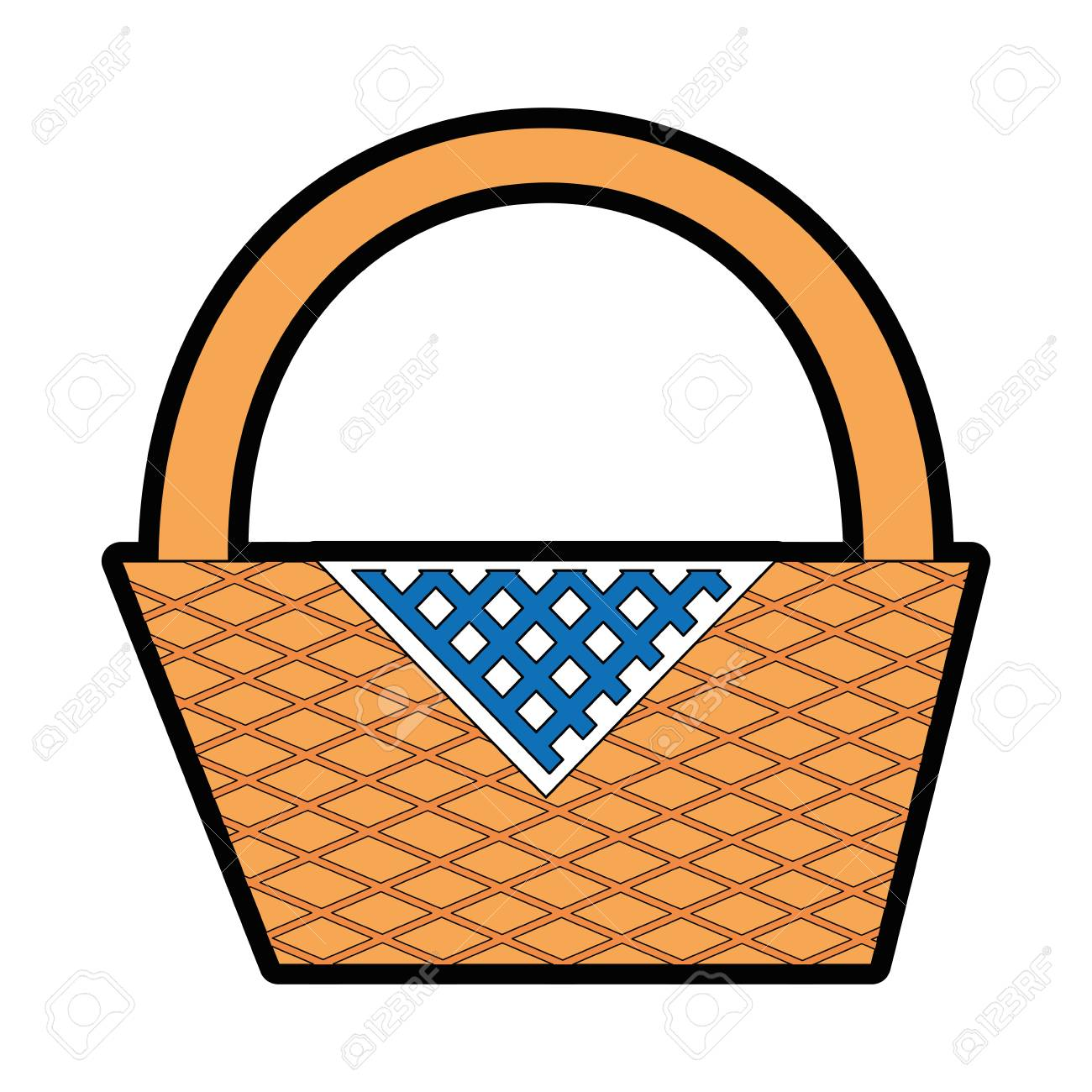 Picnic Basket Cartoon Icon Vector Illustration Graphic Design Royalty Free Cliparts Vectors And Stock Illustration Image 81621430