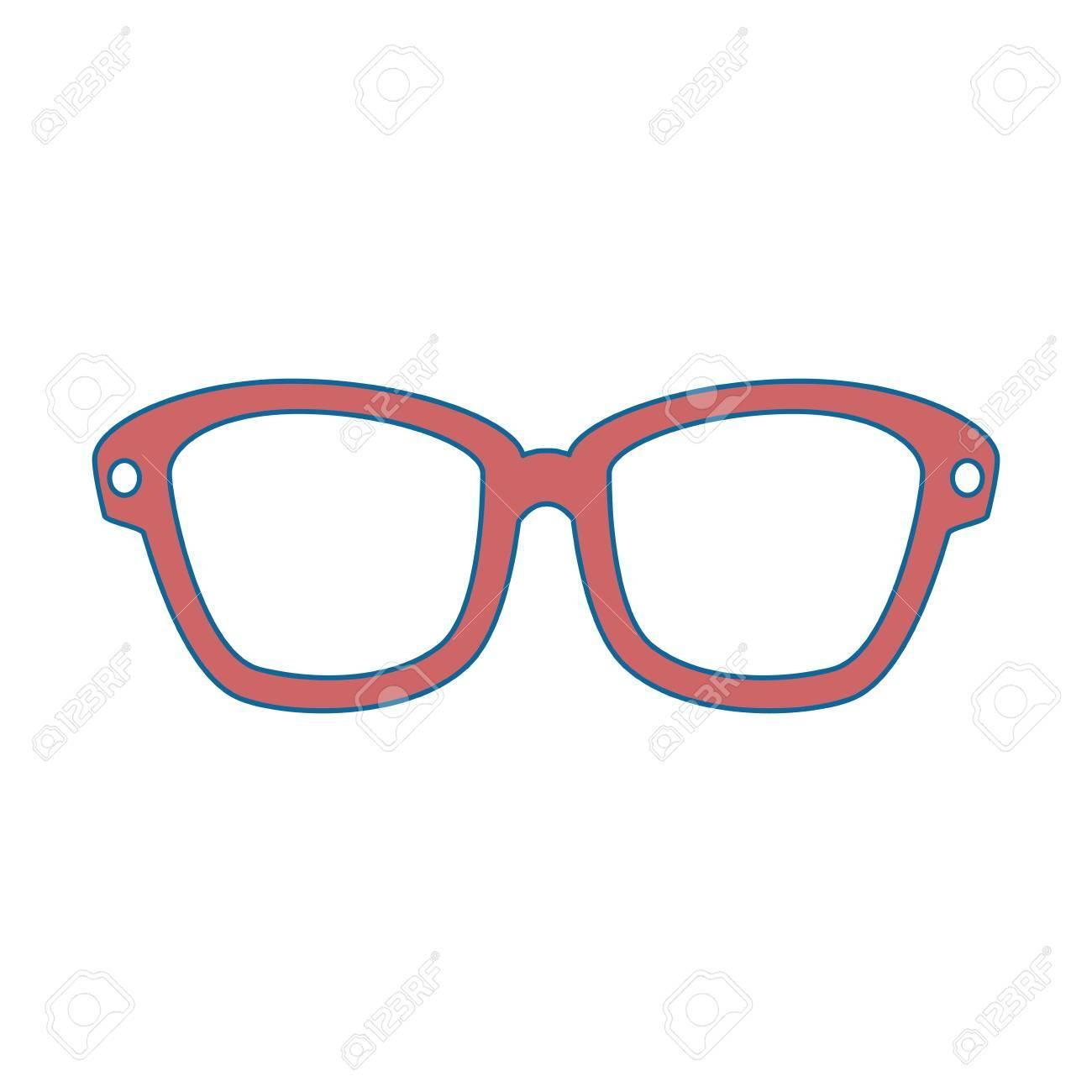 Dessin Lunettes De Soleil isolé lunettes de soleil dessin animé icône illustration vectorielle