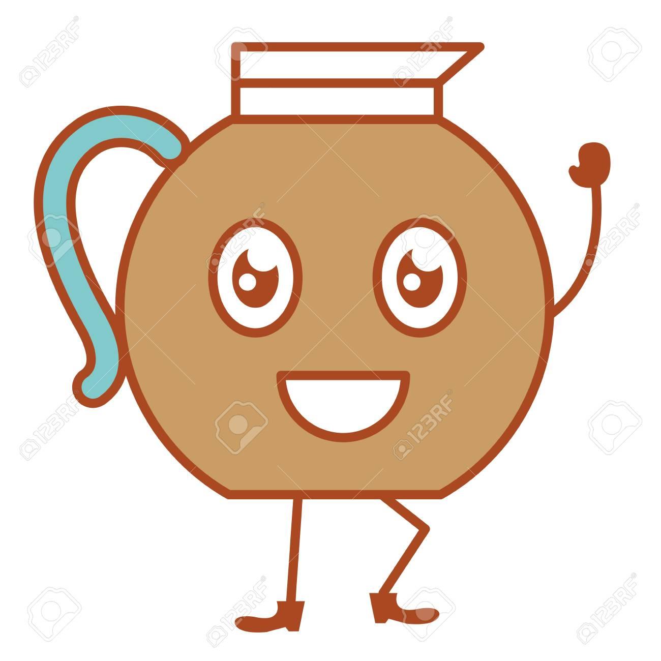 Kitchen Teapot Kawai Character...