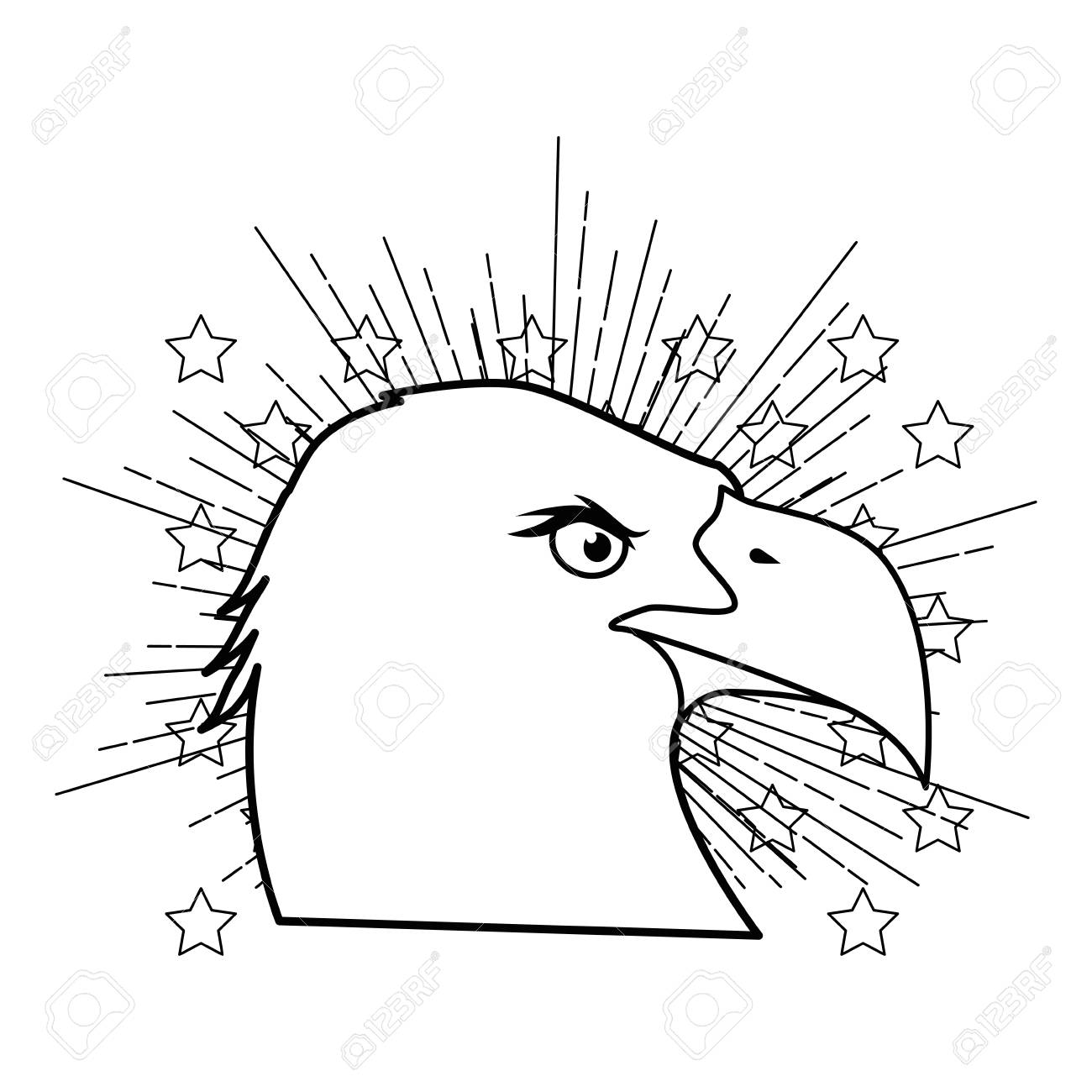 American Eagle Symbol Icon Vector Illustration Graphic Design