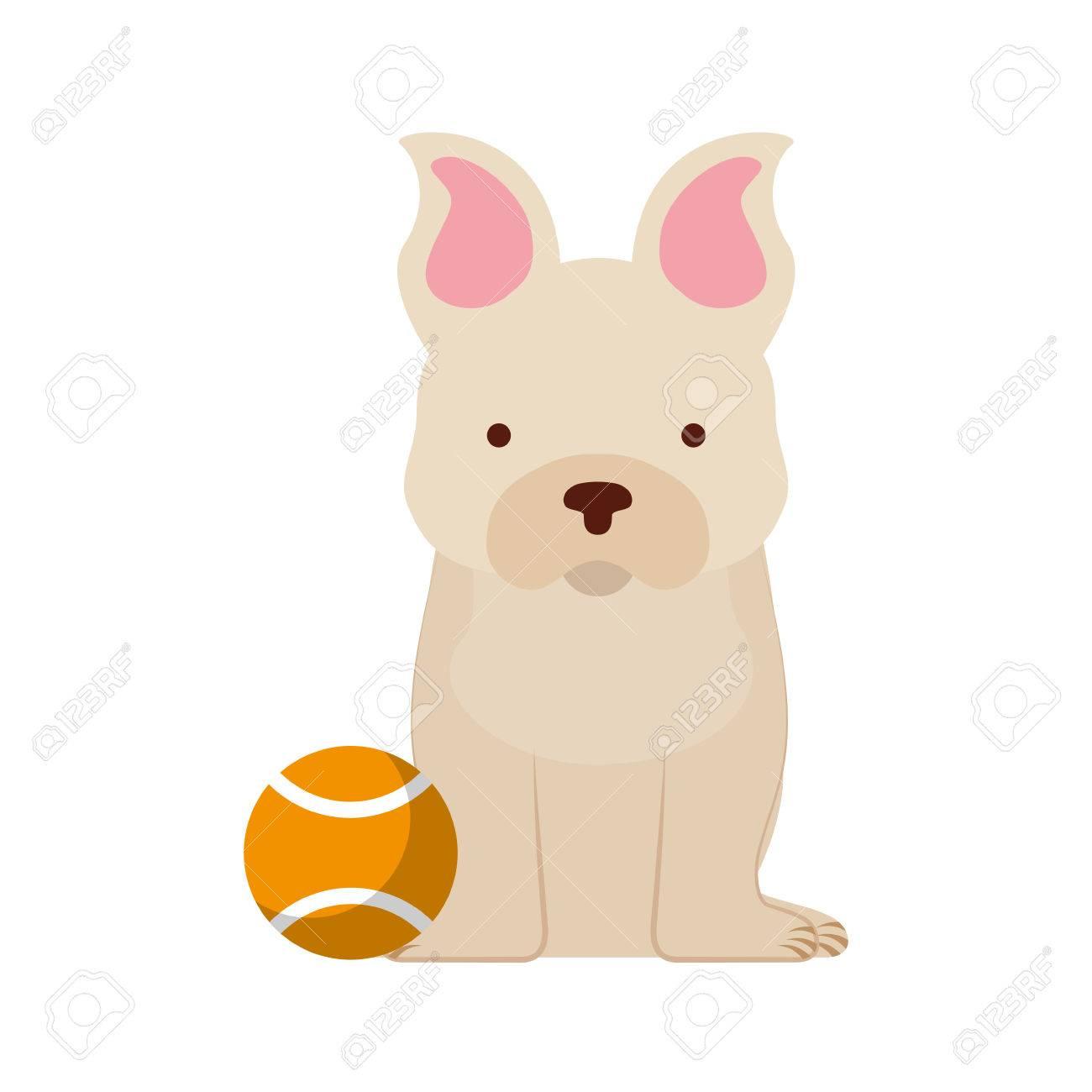 Cool Bulldog Ball Adorable Dog - 81844321-cute-dog-mascot-with-tennis-ball-vector-illustration-design  Trends_70246  .jpg
