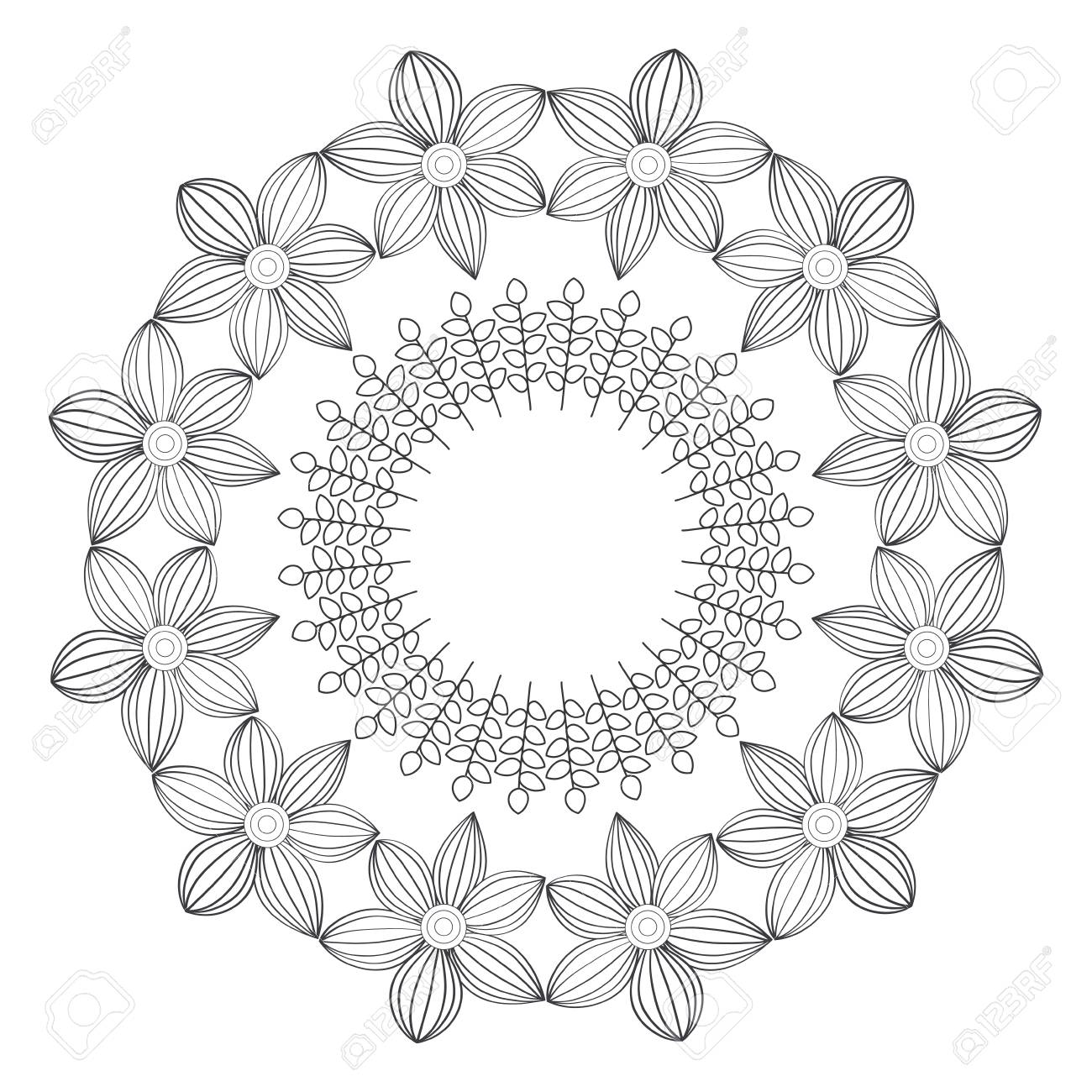 Circular crown with flowers vector illustration design royalty free circular crown with flowers vector illustration design stock vector 82007156 izmirmasajfo