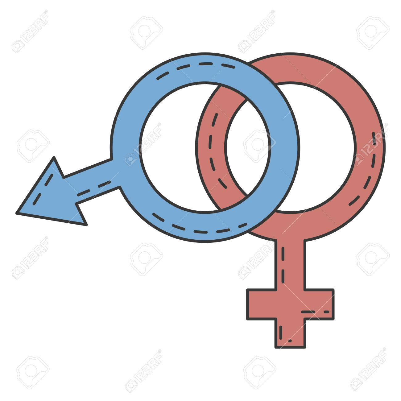 Male And Female Symbol Vector Illustration Design Royalty Free