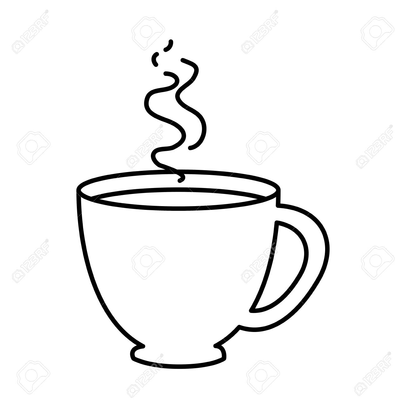 Coffee Mug Icon Over White Background Vector Illustration Royalty Free Cliparts Vectors And Stock Illustration Image 82072787
