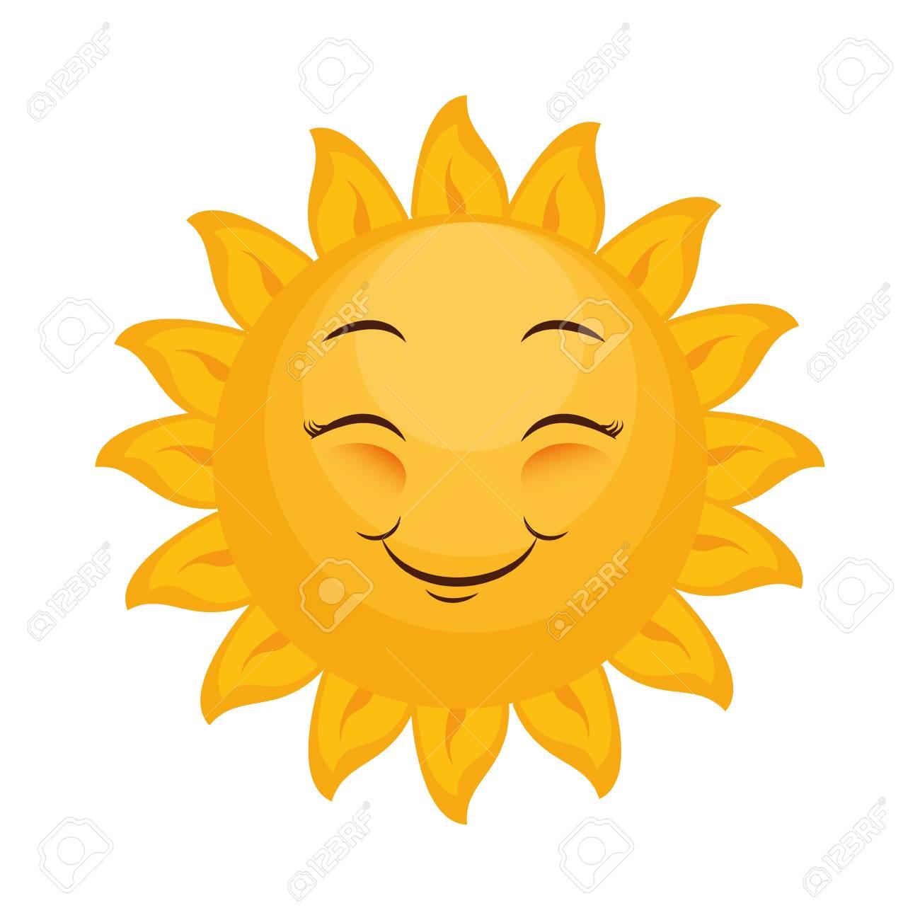 isolated yellow sun face icon vector illustration graphic design rh 123rf com Sun Face Drawings Happy Face Sun