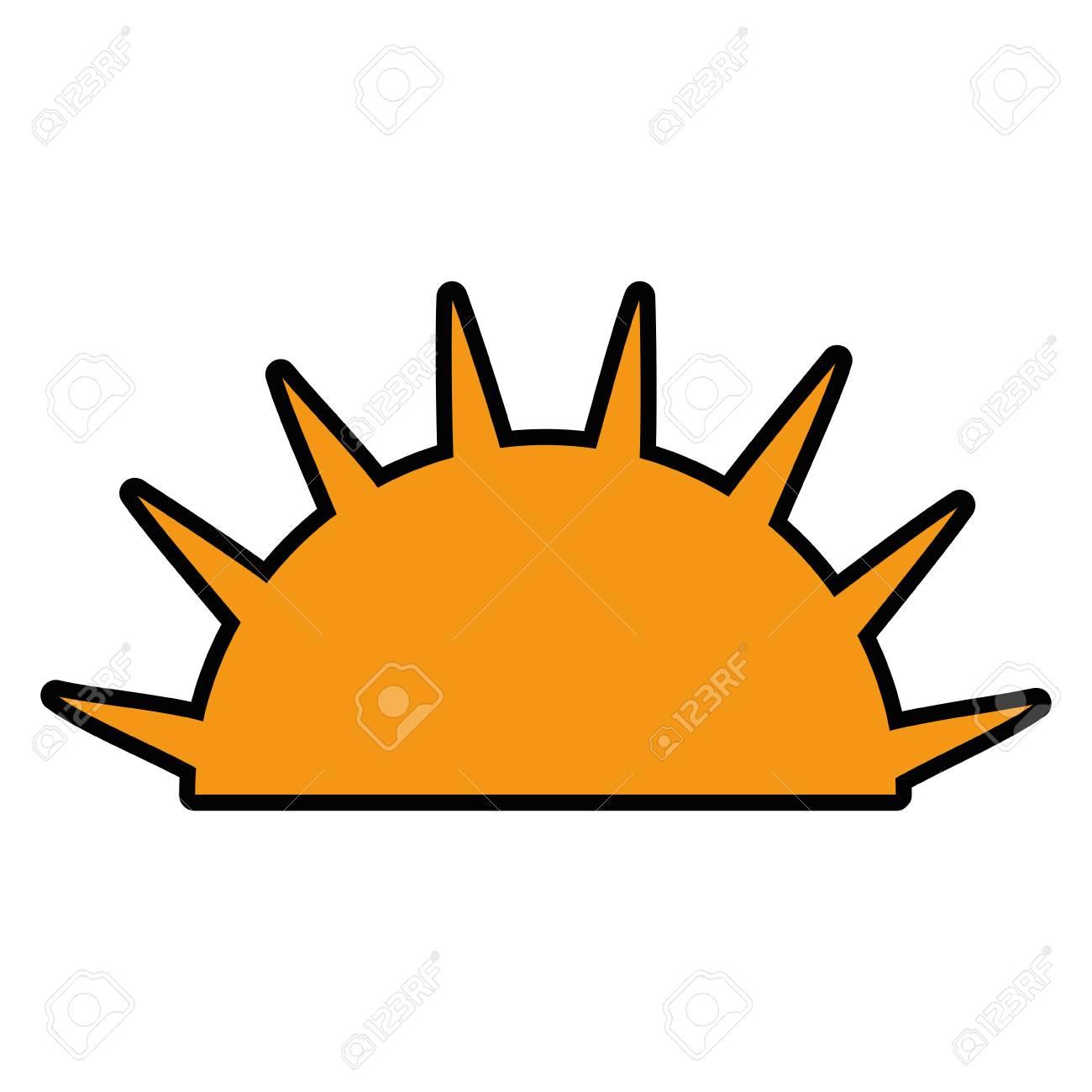 Isolated Half Sun Icon Vector Illustration Graphic Design Royalty