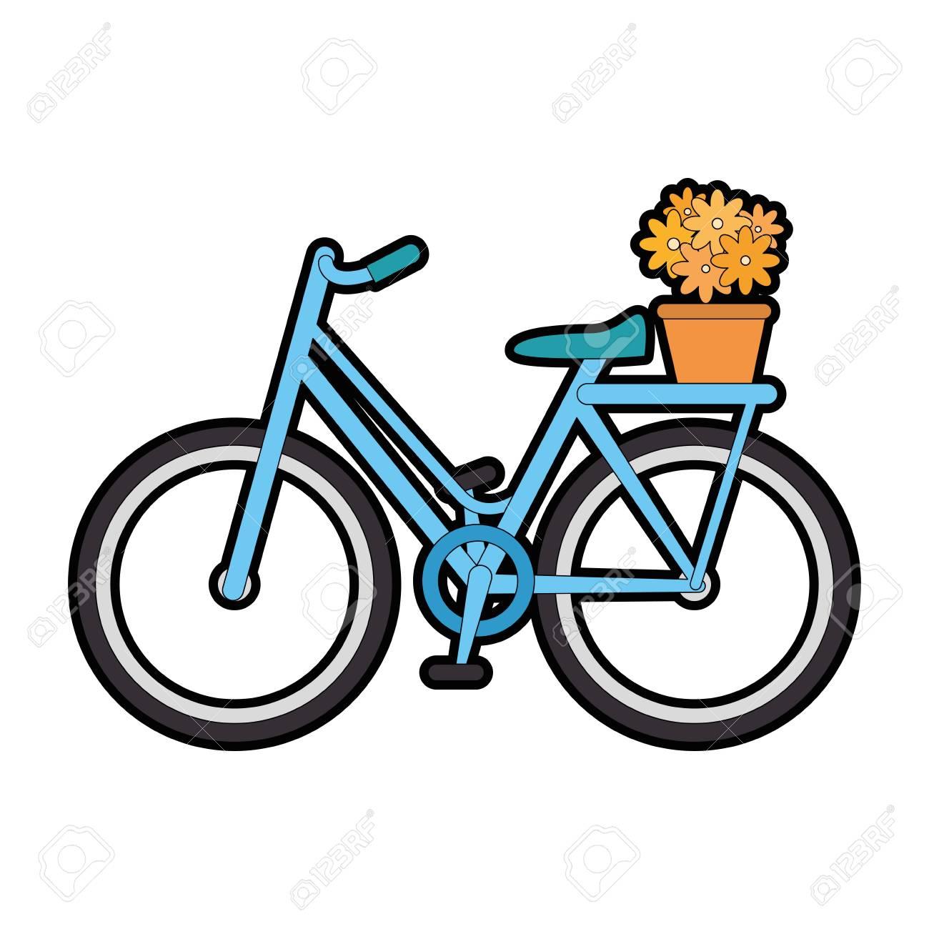 分離のかわいい自転車のアイコン ベクトル イラスト グラフィック