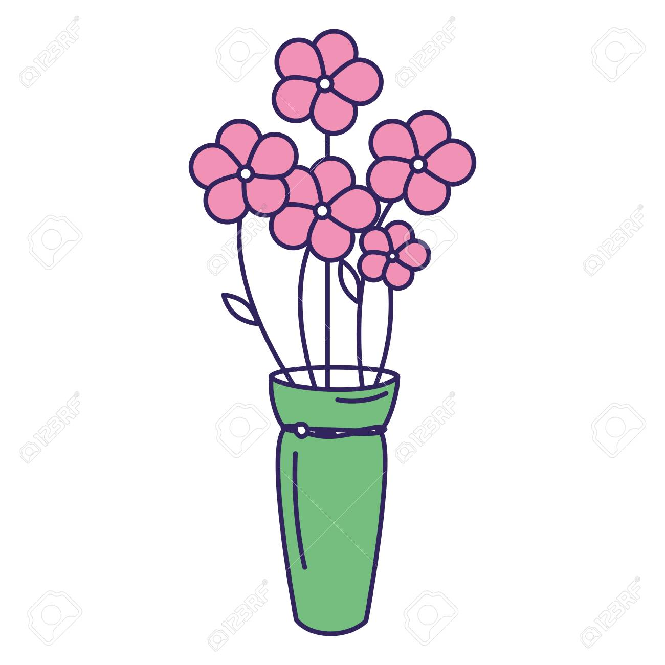花ベクトル イラスト デザインのかわいい花束のイラスト素材ベクタ