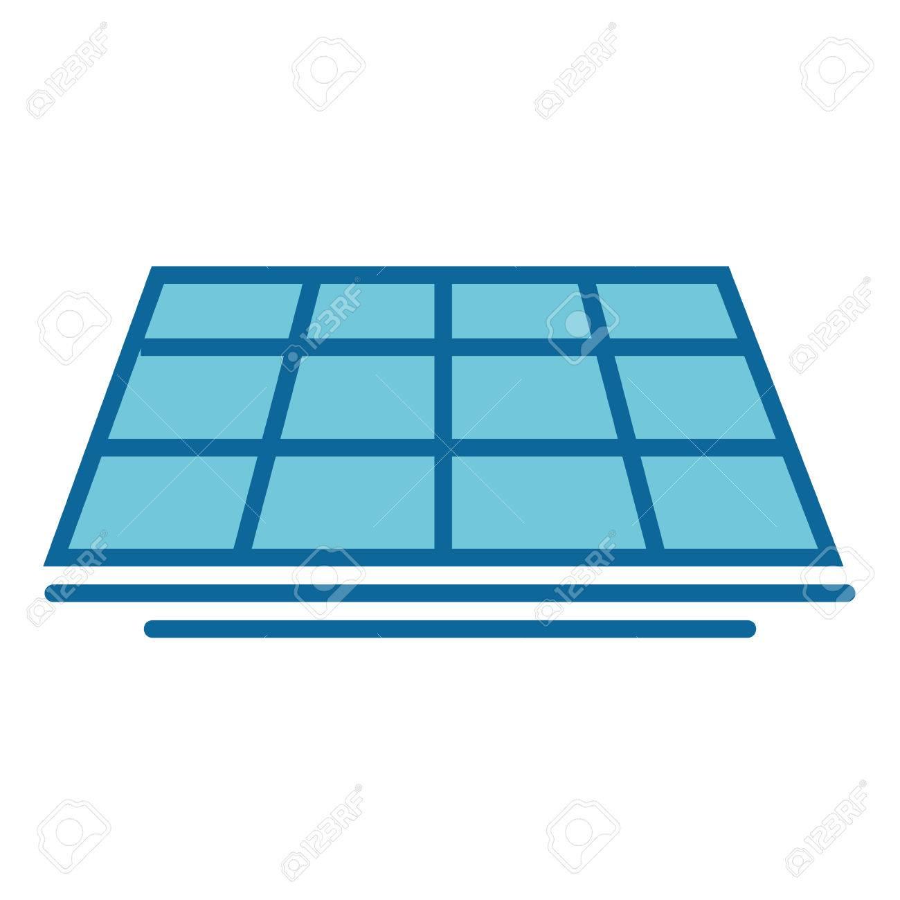 隔離された太陽電池パネルのアイコン ベクトル イラスト グラフィック
