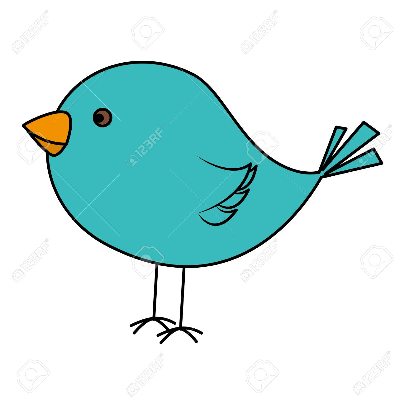 Cute Bird Drawing Icon Vector Illustration Design Royalty Free Cliparts Vectors And Stock Illustration Image 82984869