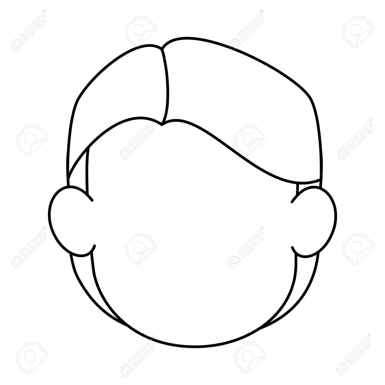 Desenho De Homem Sem Rosto Sobre O Icone Do Fundo Branco