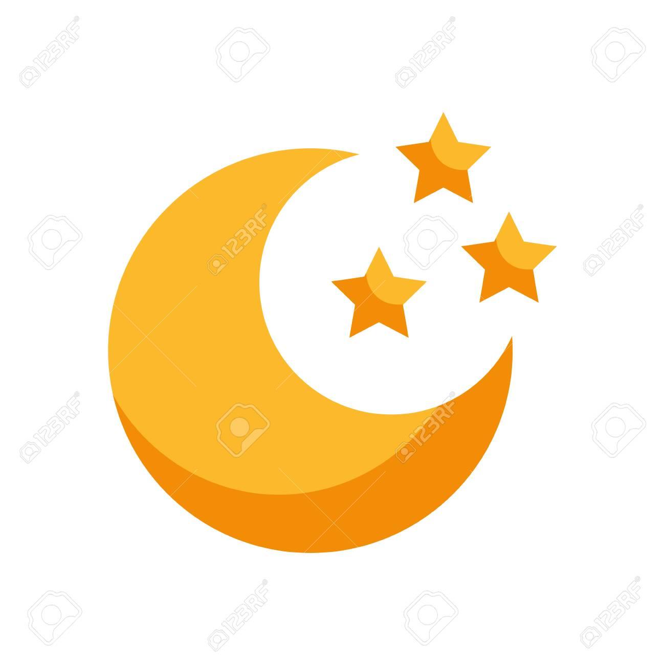 かわいい月星ベクトル イラスト デザインのイラスト素材ベクタ Image