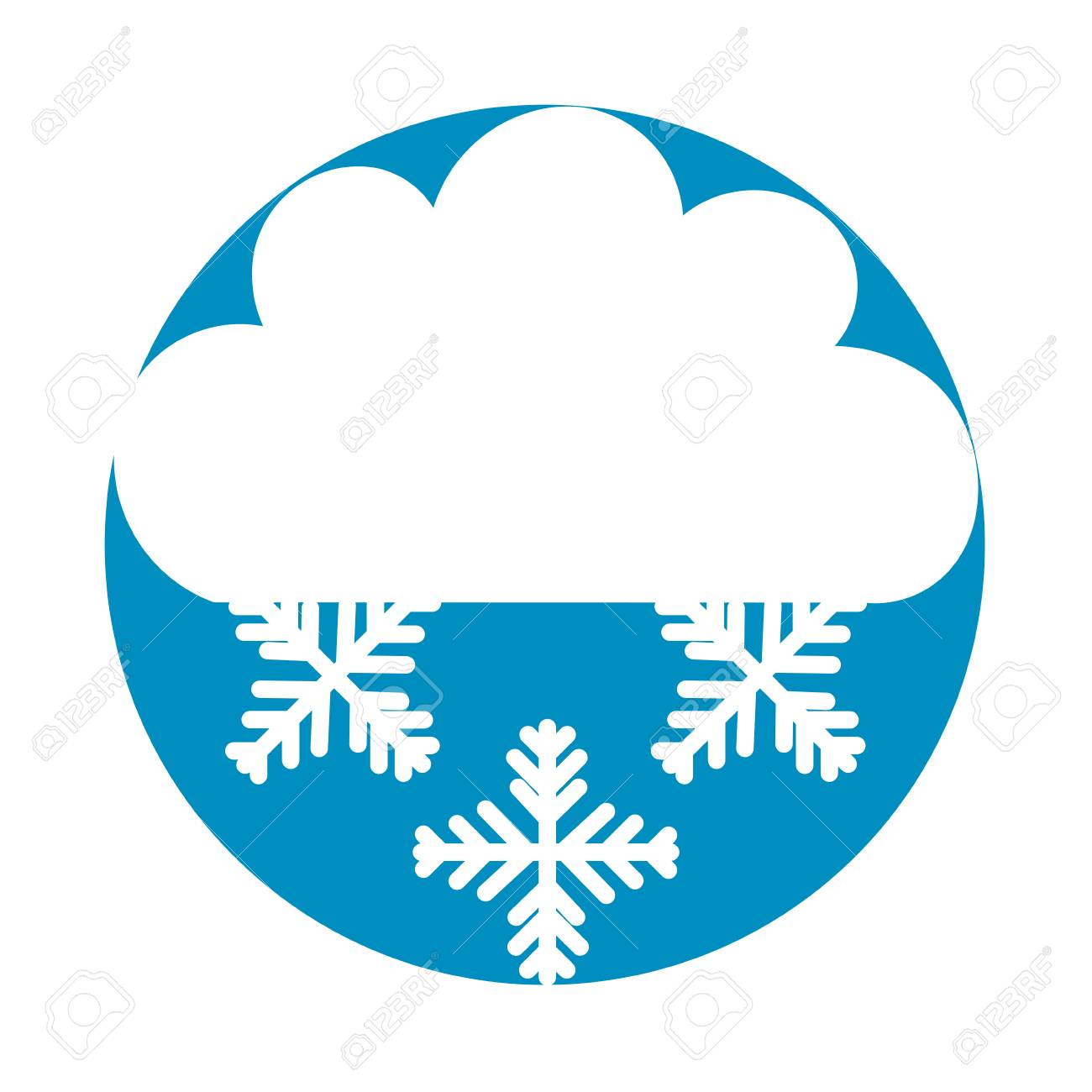 beautiful fantasy cloud with snowflakes vector illustration design rh 123rf com cloud vector free the vectors soundcloud