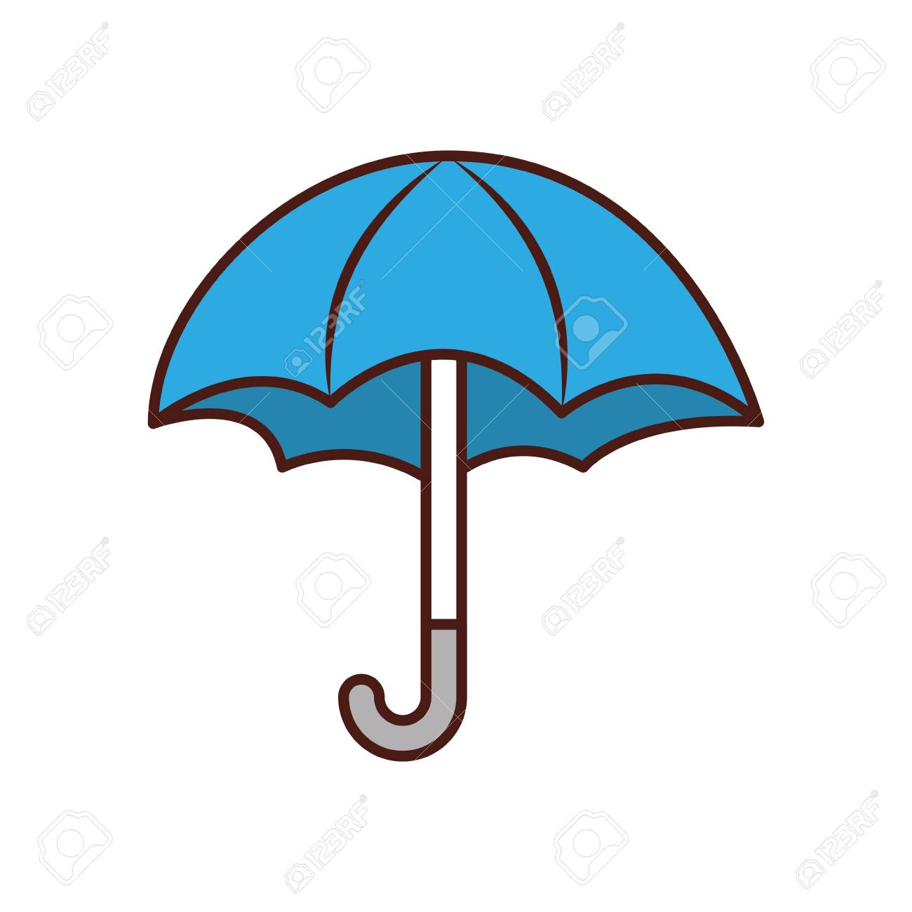 cute umbrella isolated icon vector illustration design royalty free