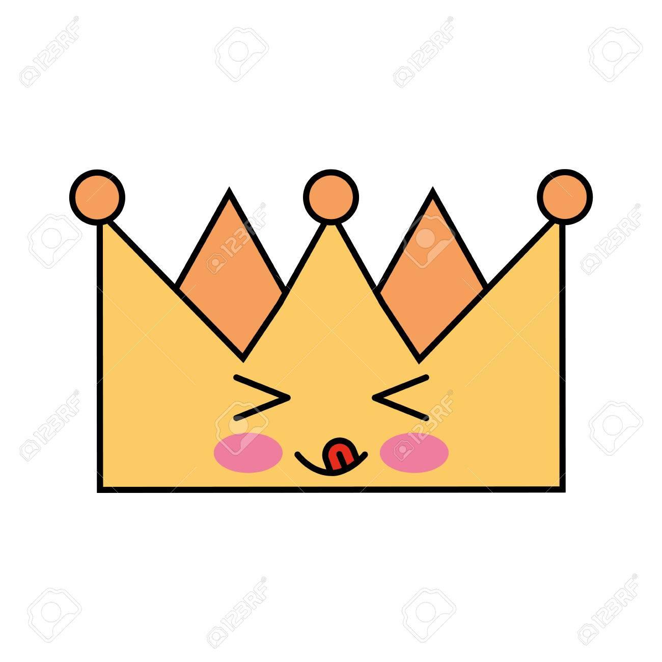 王の王冠かわいい文字ベクトル イラスト デザインのイラスト素材ベクタ