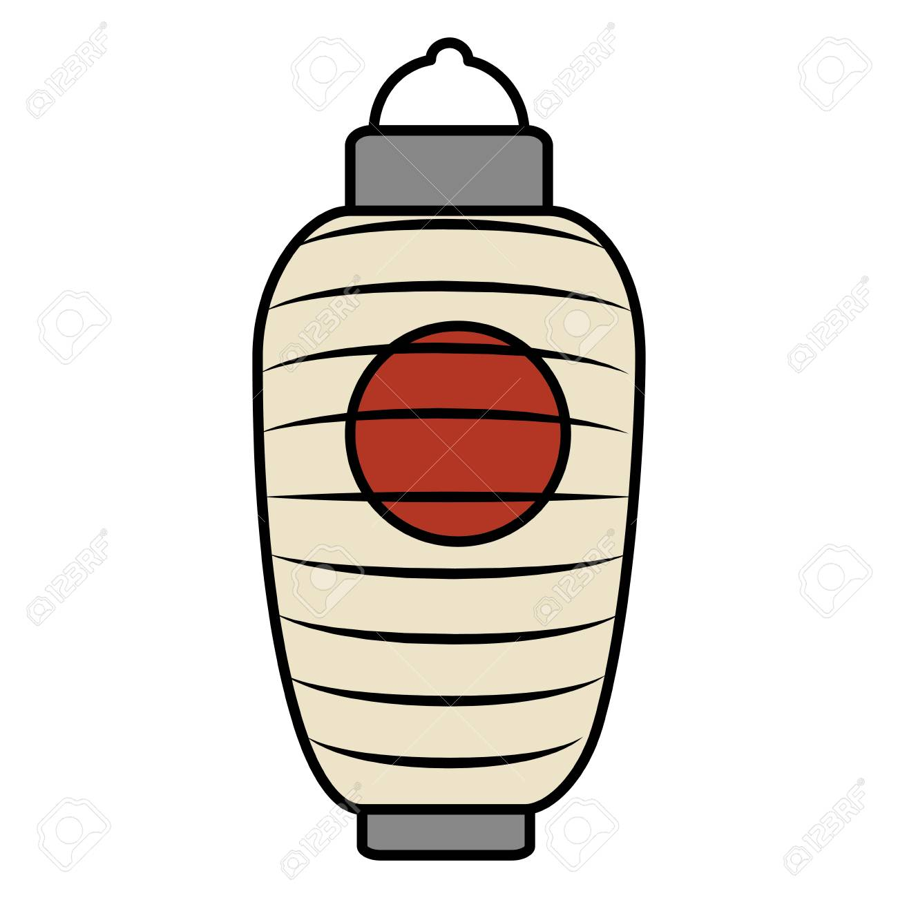 Japanese Lamp Isolated Icon Vector Illustration Design Stock