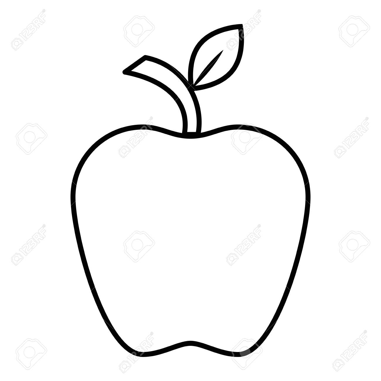An apple fruit icon over white background vector illustration