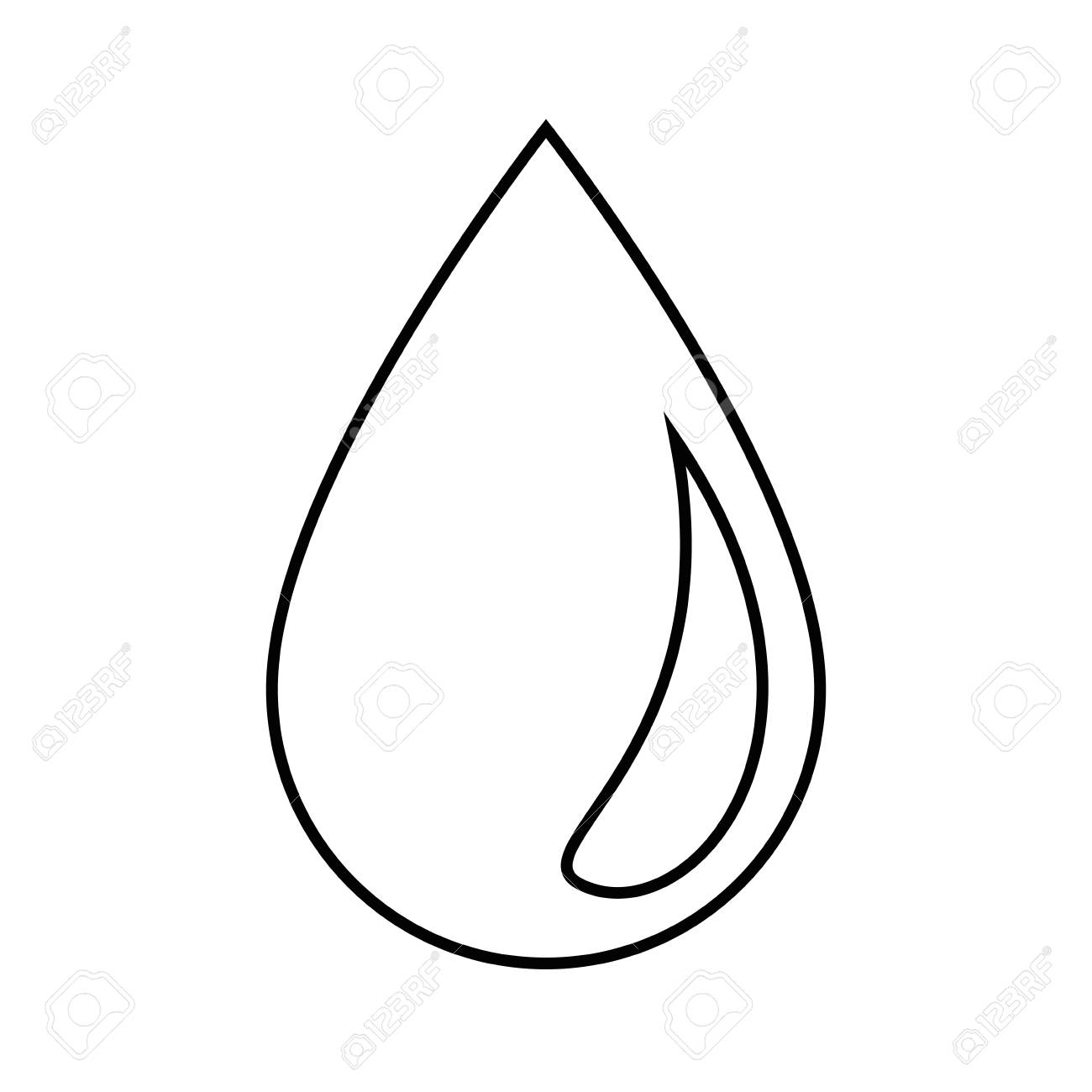 Water drop icon over white background vector illustration. - 83808496