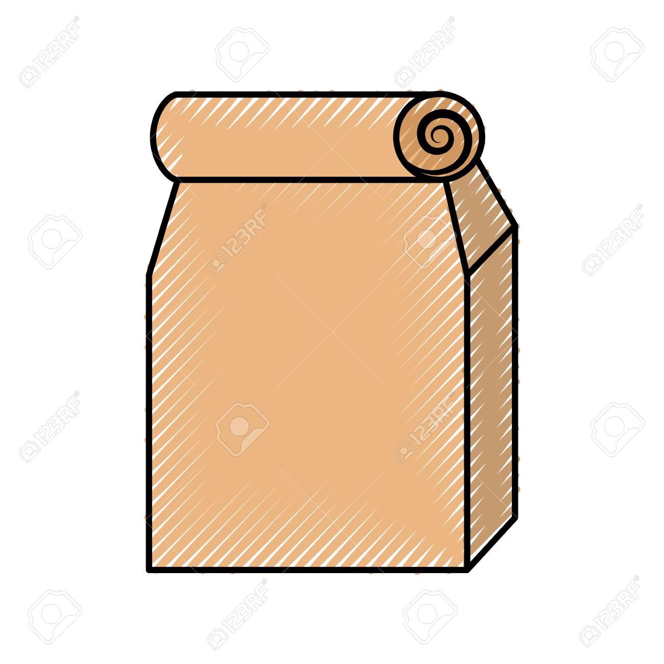 lunch bag in paper bag vector illustration design royalty free rh 123rf com paper bag princess clipart brown paper bag clipart