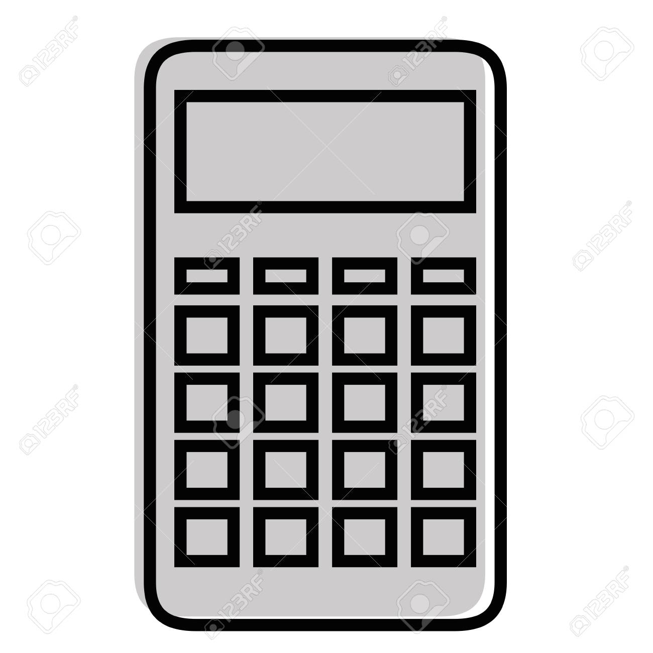 Calculator device icon illustration