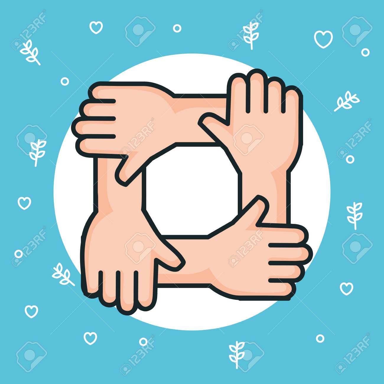Hands Symbol Peace Unity Community Vector Illustration Royalty Free Cliparts Vectors And Stock Illustration Image 83871028
