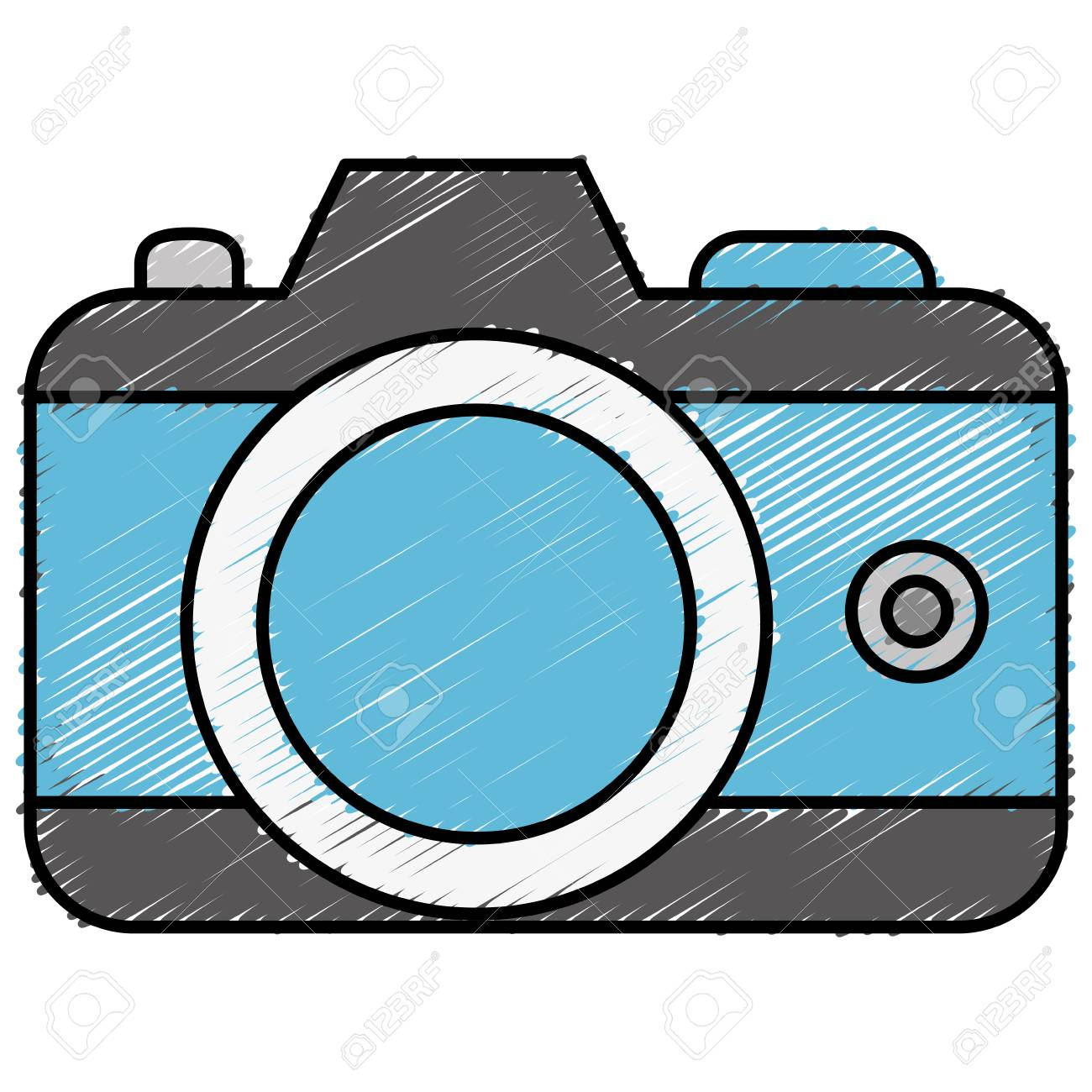 Cámara Fotográfica Aislado Icono De Ilustración Vectorial De ...