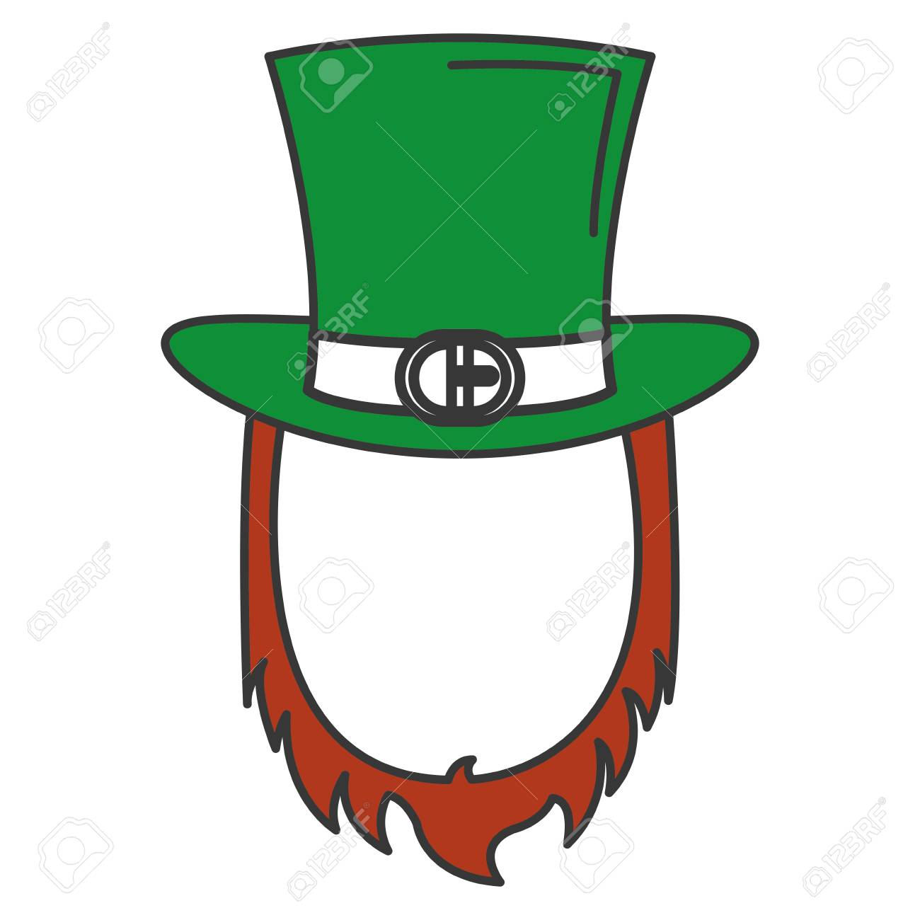 Irish elf hat and beard saint patrick celebration vector illustration  design Stock Vector - 84227928 6c7940c9613