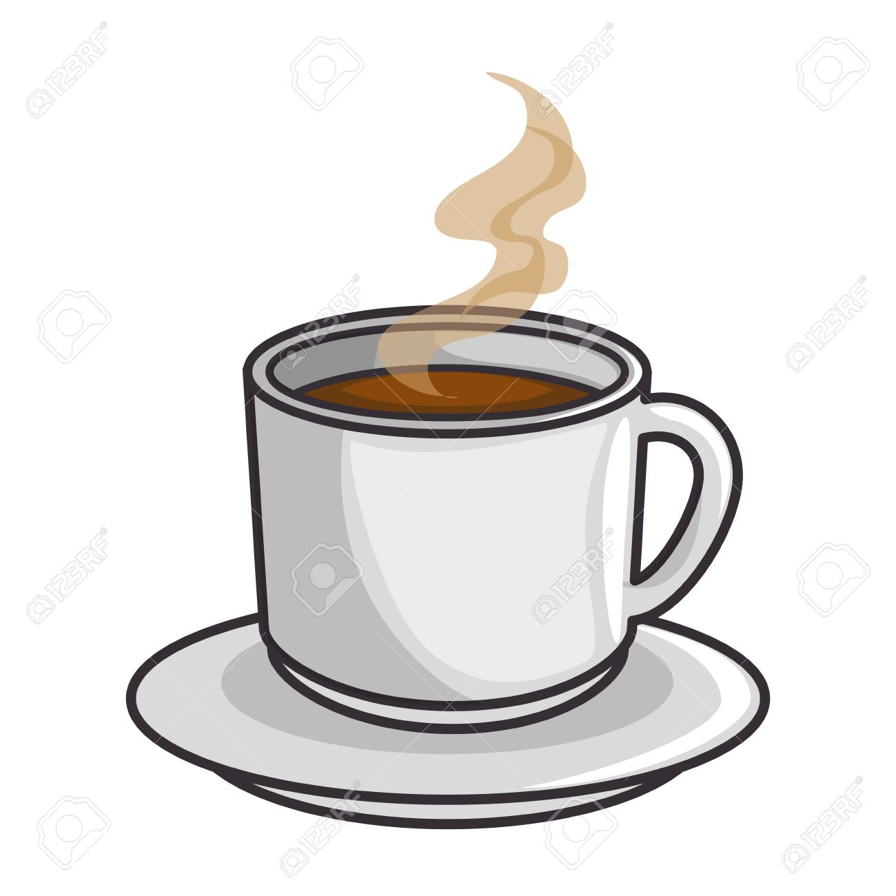 3cae3dde344 hot coffee mug icon over white background vector illustration Stock Vector  - 84219595