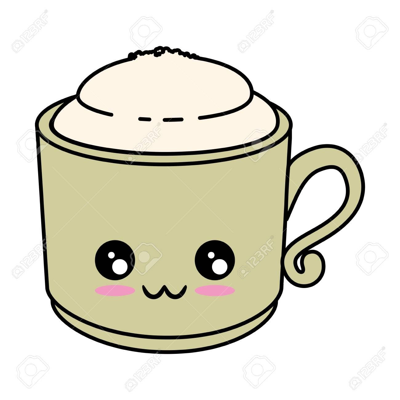 Delicious Coffee Mug Cute Cartoon Vector Ilustration Royalty Free Cliparts Vectors And Stock Illustration Image 84524991