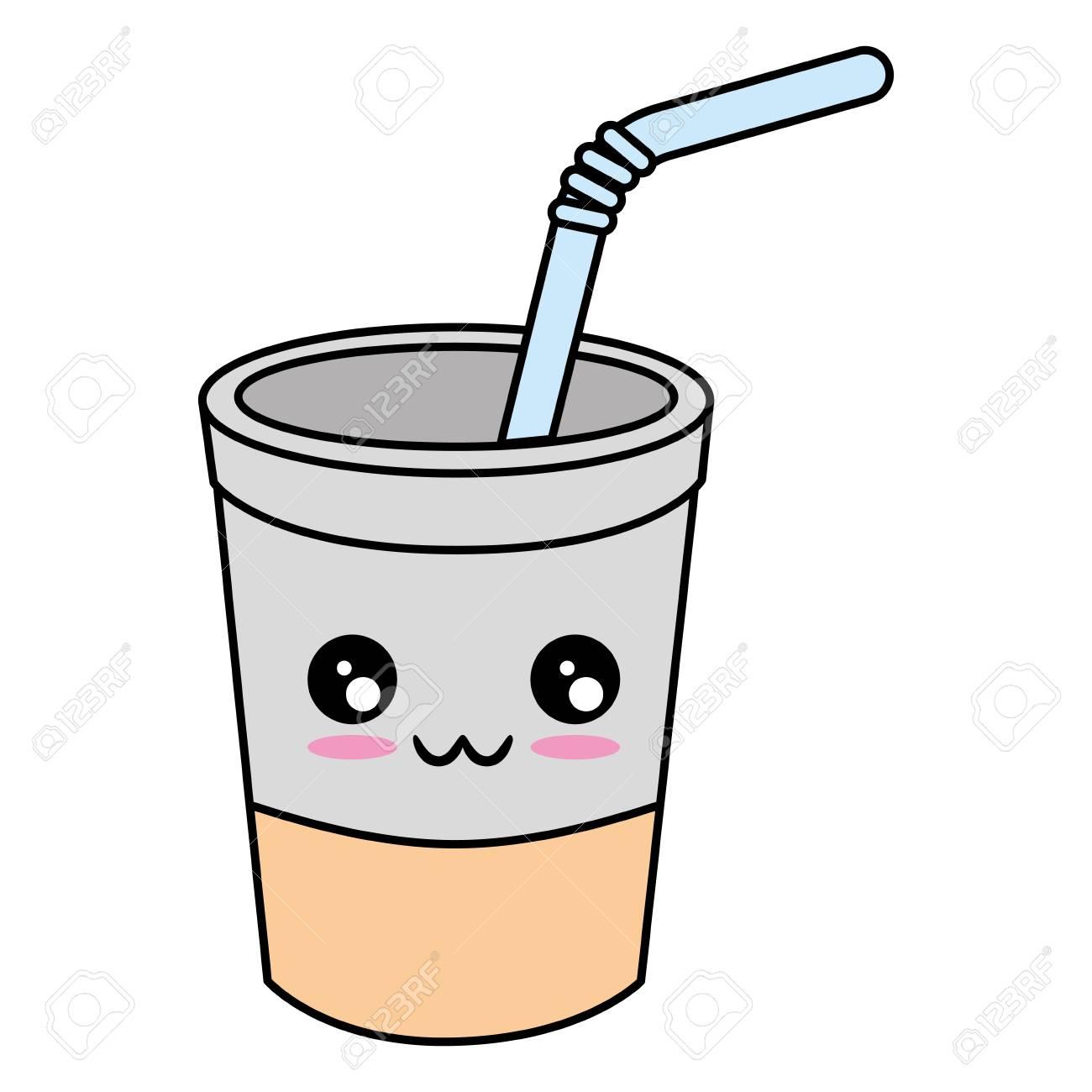Cafe A Faire Mignon Dessin Anime Illustration Vectorielle Clip Art Libres De Droits Vecteurs Et Illustration Image 84524722