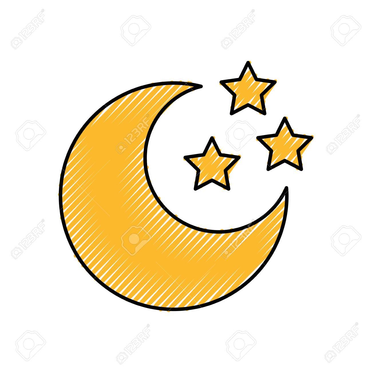 かわいい月星ベクトル イラスト デザイン ロイヤリティフリークリップ