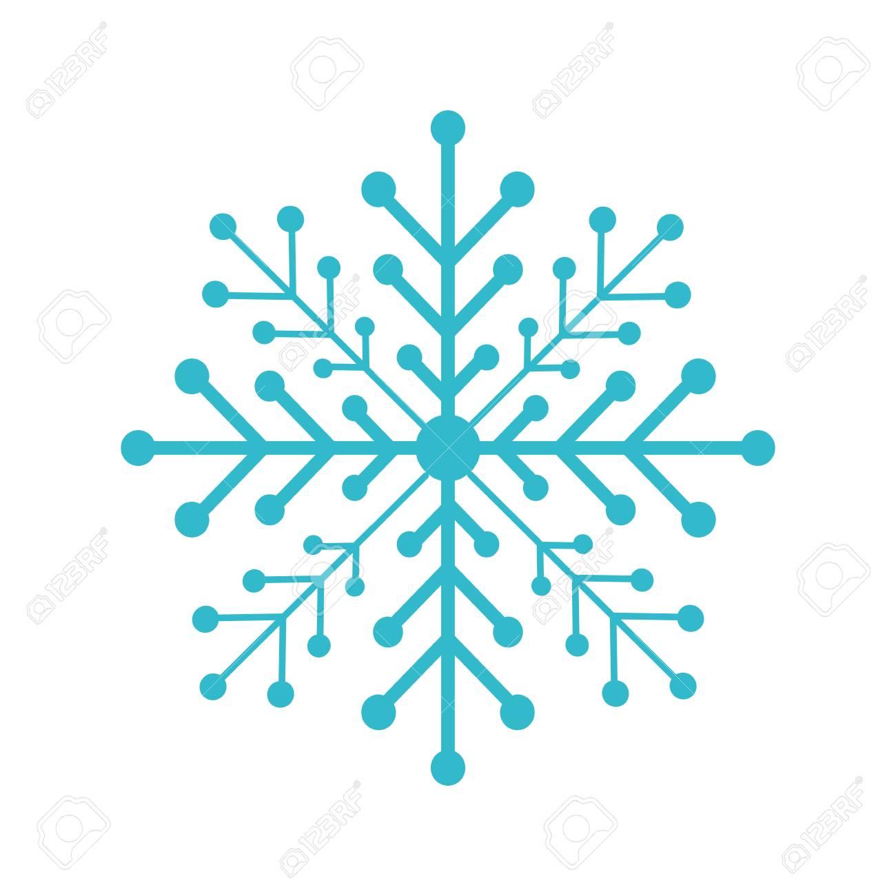 snow flake isolated icon vector illustration design - 84748734
