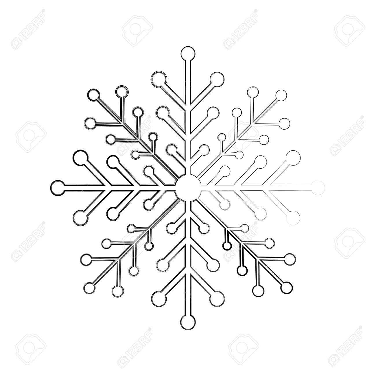 snow flake isolated icon vector illustration design - 84746712