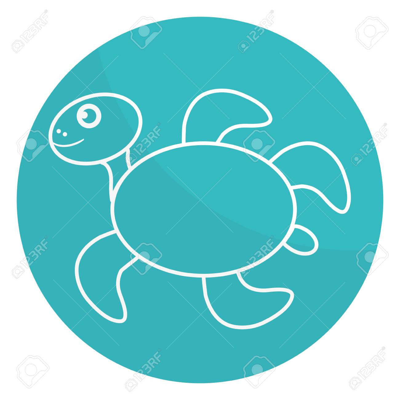 Cute Turtle Character Icon Vector Illustration Design Royalty Free