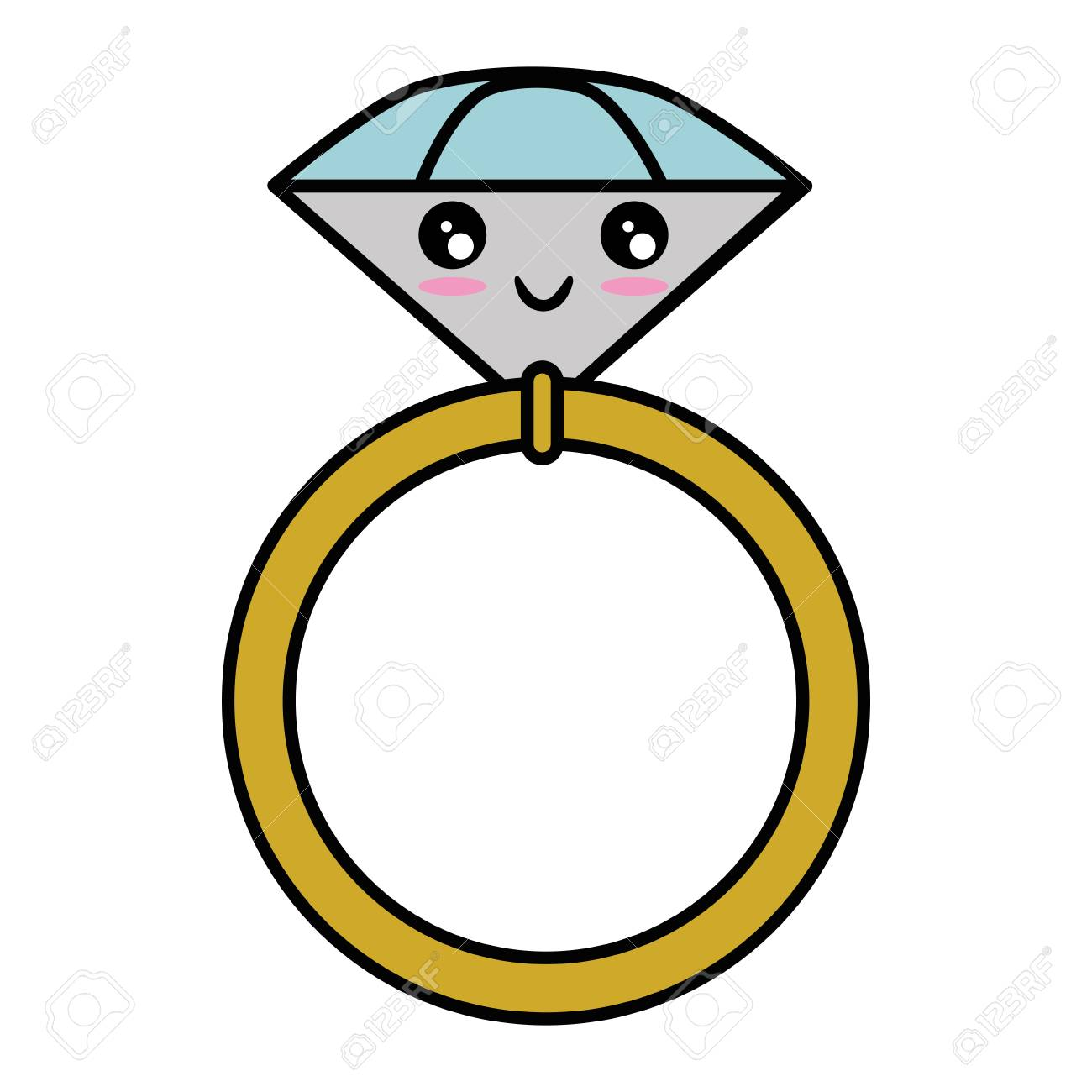 Wedding Ring Isolated Cute Cartoon Vector Illustration Graphic